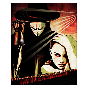 V for Vendetta. Размер: 40 х 50 см